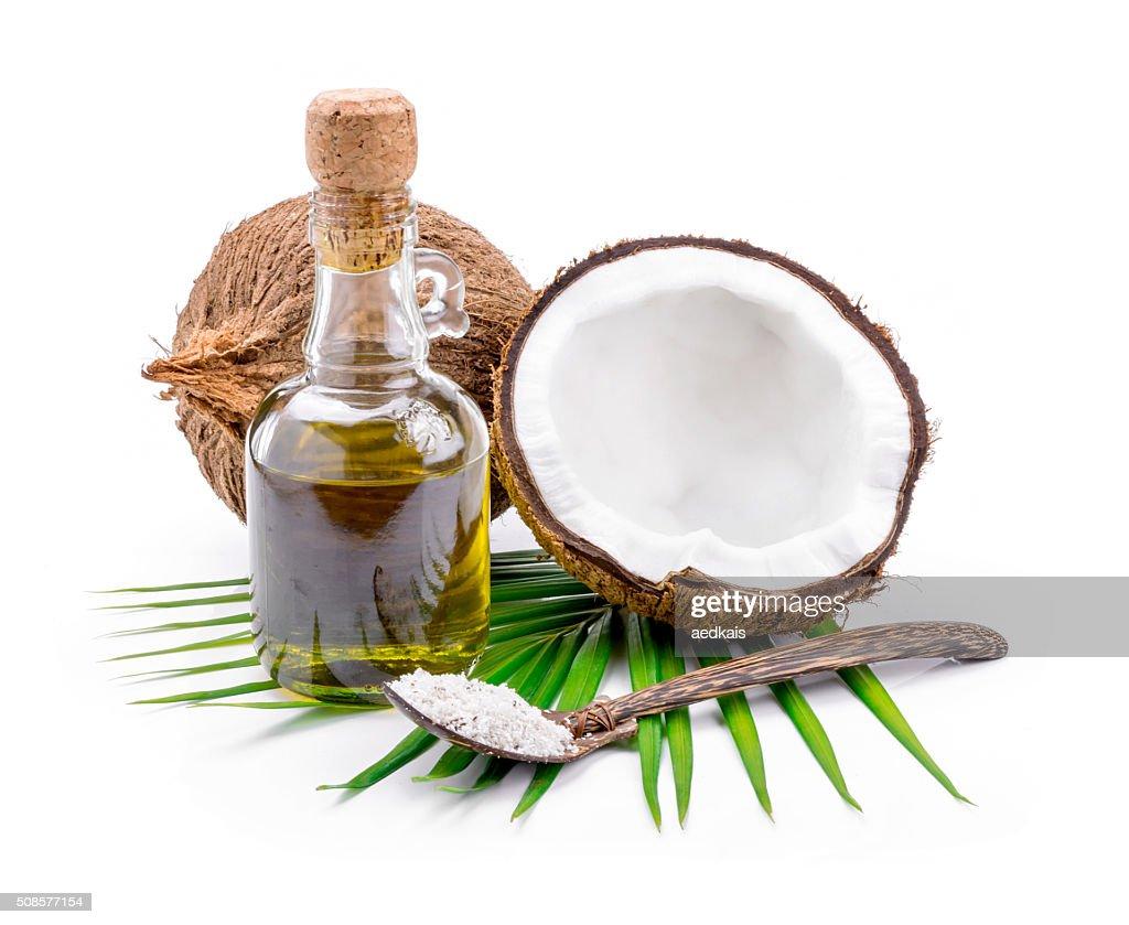 Coconut oil for alternative therapy : Stockfoto