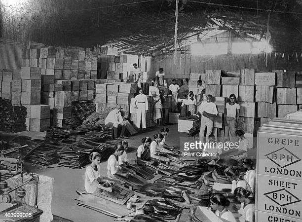 Coconut production India 20th century Women making mats from coir a fibre from coconut husks