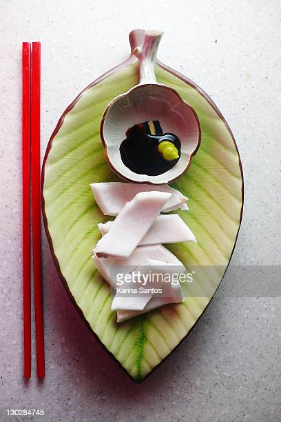 coconut, sashimi-style - wasabi sauce stock pictures, royalty-free photos & images