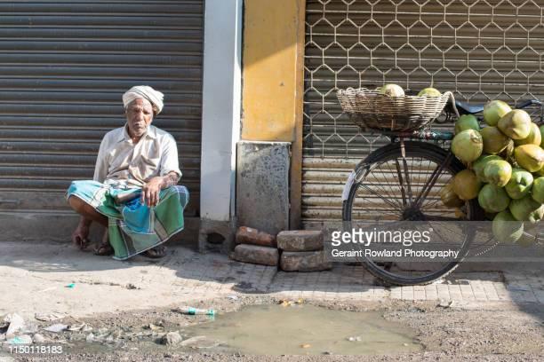 Coconut Seller & Bike, Bangalore