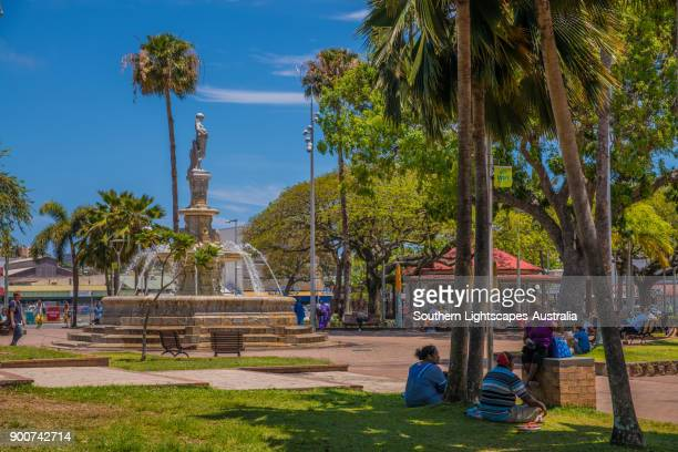coconut square, downtown noumea, new caledonia. - new caledonia stock photos and pictures