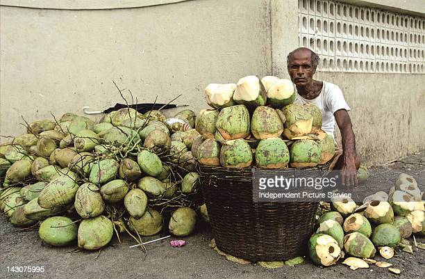 Coconut water vendor Mumbai India