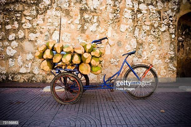 Coconuts in a rickshaw, Santo Domingo, Dominican Republic