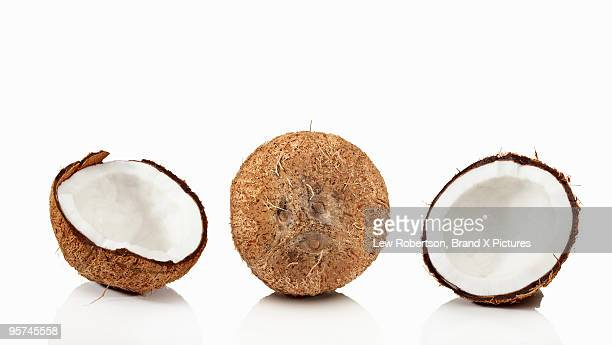 coconuts - bisected stock pictures, royalty-free photos & images