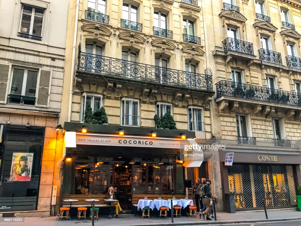 Cocorico cafe and bar in Paris, France : Stock Photo