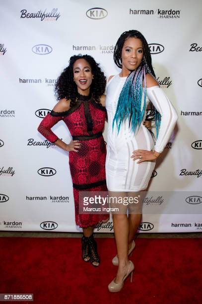 Cocreaters Africa Miranda and Kimberly Lachelle attend the launch party for the new web series 'Beautifully Driven' sponsored by Harman Kardon and...