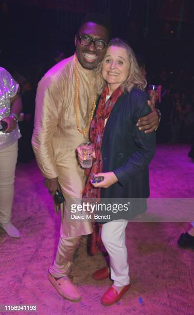 CoCreator and Director Kwame KweiArmah and Sinead Cusack attend the press night after party for Tree at The Young Vic on August 1 2019 in London...