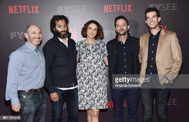 Cocreator and executive producer Andrew Goldberg actor Jason Mantzoukas writer Jessi Klein and actors Nick Kroll and John Mulaney arrive at the...