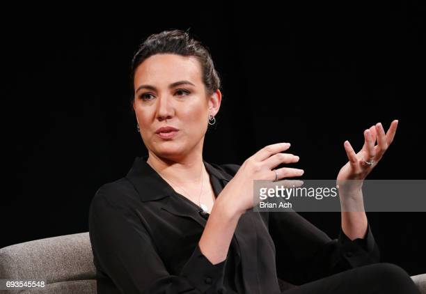 CoCreator and Executive Producer of Westworld Lisa Joy is interviewed onstage at WIRED Business Conference presented by Visa at Spring Studios on...