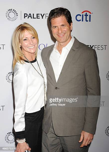 CoCreator and executive producer Steve Levitan and wife Krista Levitan arrive at The Paley Center For Media's 32nd Annual PALEYFEST LA 'Modern...