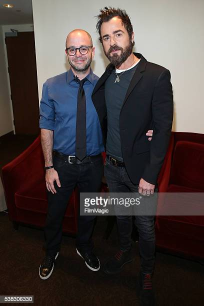 CoCreator and Showrunner for The Leftovers Damon Lindelof and Justin Theroux attend the The Leftovers FYC at Paramount Studios on June 5 2016 in...