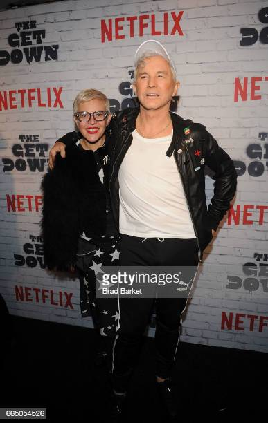 CoCreator Catherine Martin and Baz Luhrmann attend 'The Get Down' Part 2 New York Kickoff Party at Irving Plaza on April 5 2017 in New York City