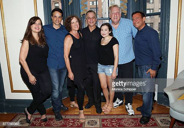 Cocreator of Celebrity Autobiography Dayle Reyfel actors Ralph Macchio Karen Ziemba Tony Danza and Lucy DeVito writer and producer Alan Zweibel and...
