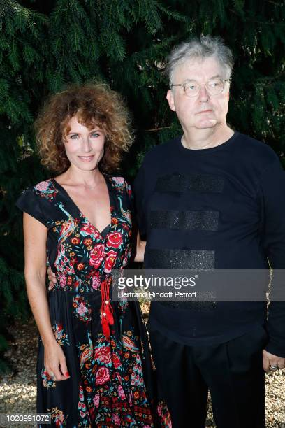Cocreator of the Festival Dominique Besnehard and Elsa Lunghini attend the 11th Angouleme FrenchSpeaking Film Festival Day One on August 21 2018 in...