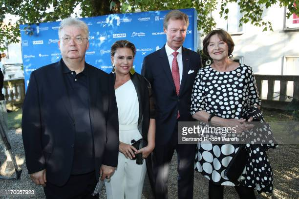 Co-creator of the Festival Dominique Besnehard, Grand Duchess Maria Theresa of Luxembourg, Grand Duke Henri of Luxembourg and Macha Meril attend the...