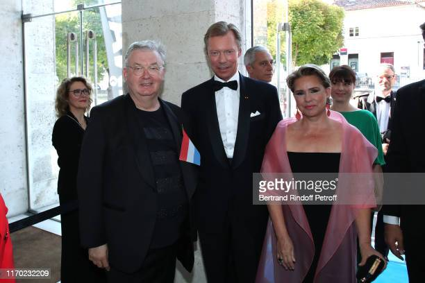 Co-creator of the Festival Dominique Besnehard, Grand Duke Henri of Luxembourg and Grand Duchess Maria Theresa of Luxembourg attend the Closing...