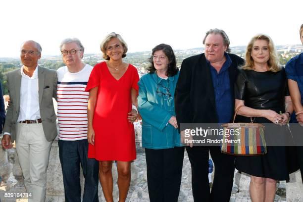 Cocreator of the Festival Dominique Besnehard Valerie Pecresse director Florence Quentin actors Gerard Depardieu and Catherine Deneuve attend the...