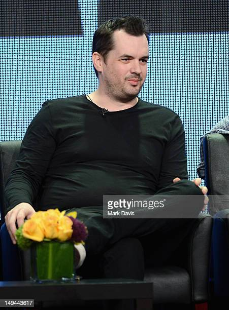 """Co-Creator/Actor Jim Jefferies speaks onstage at the """"Legit"""" panel during the FX portion of the 2012 Summer TCA Tour on July 28, 2012 in Beverly..."""