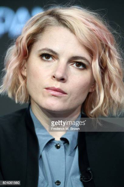 Cocreator/executive producer Amy Seimetz of 'The Girlfriend Experience' speaks onstage during the Starz portion of the 2017 Summer Television Critics...