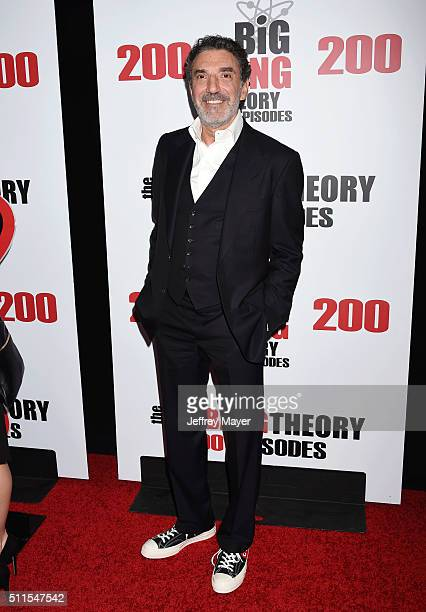 CoCreator/Executive producer Chuck Lorre arrives at CBS's 'The Big Bang Theory' Celebrates 200th Episode at Vibiana on February 20 2016 in Los...