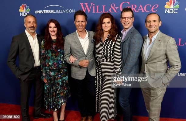 CoCreator/executive producer David Kohan actors Megan Mullally Eric McCormack Debra Messing Sean Hayes and Cocreator/executive producer Max Mutchnick...