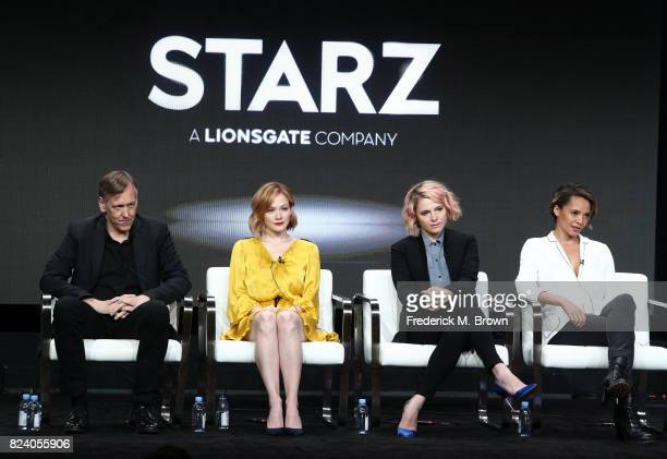 Cocreator/executive producer Lodge Kerrigan actor Louisa Krause cocreator/executive producer Amy Seimetz and actor Carmen Ejogo of 'The Girlfriend...