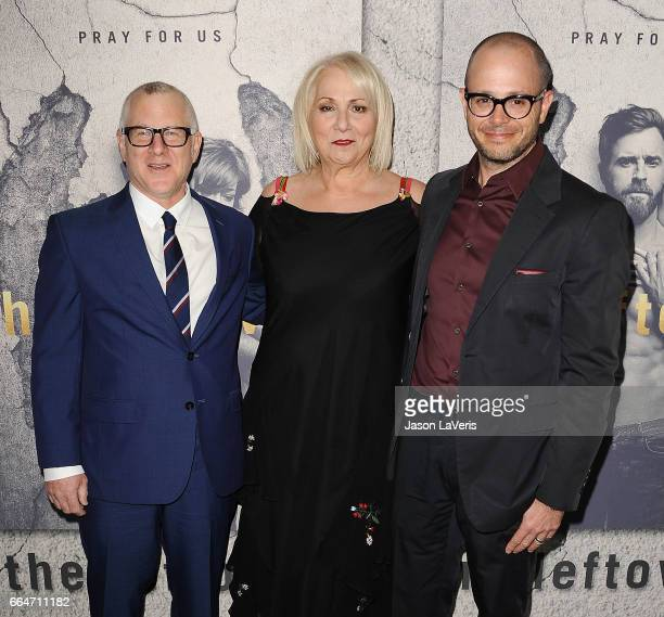 Cocreator/executive producer Tom Perotta executive producer/director Mimi Leder and showrunner/cocreator/executive producer Damon Lindelof attend the...