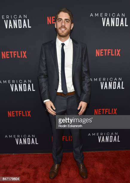 CoCreator/Executive Producer Tony Yacenda attends the premiere of Netflix's American Vandal at ArcLight Hollywood on September 14 2017 in Hollywood...