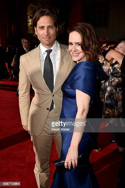Cocreator/executive producer/writer Brad Falchuk and actress Sarah Paulson attend the premiere screening of FX's 'American Horror Story Freak Show'...
