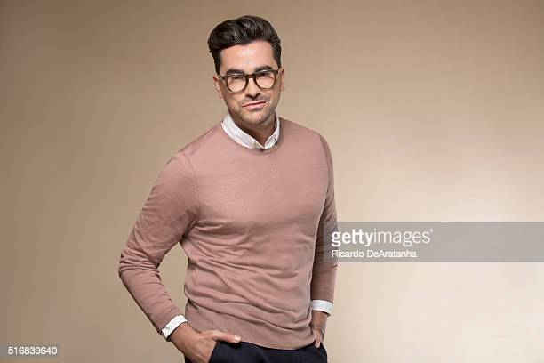 Cocreators and costars of the sitcom 'Schitt's Creek' Dan Levy is photographed for Los Angeles Times on March 2 2016 in Los Angeles California...