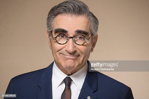 Co-creators and co-stars of the sitcom 'Schitt's Creek' Eugene Levy is photographed for Los Angeles Times on March 2, 2016 in Los Angeles,...