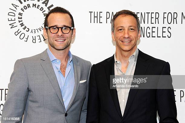CoCreators and Executive Producers Max Mutchnick and David Kohan arrive at the 2012 PaleyFest Fall TV Preview CBS Preview Screening Of 'Partners' at...