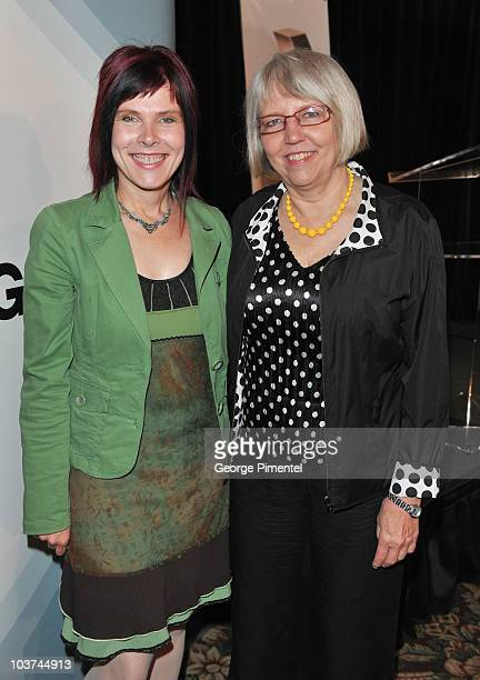 """Co-creators and executive producers of """"Durham County"""" Adrienne Mitchell and Janis Lundman attend the 25th Annual Gemini Awards Press Conference at..."""