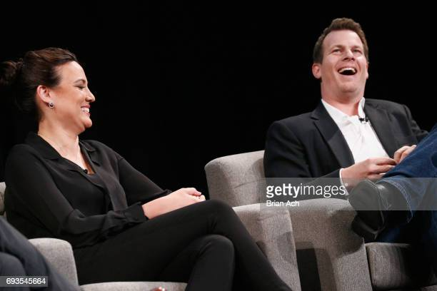 CoCreators and Executive Producers of Westworld Lisa Joy and Jonathan Nolan are interviewed onstage at WIRED Business Conference presented by Visa at...