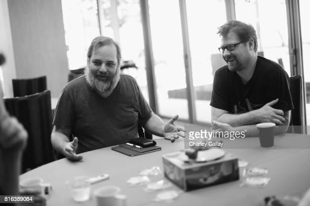 Cocreators Dan Harmon and Justin Roiland at the 'Rick and Morty' LA Press Junket on July 17 2017 in Los Angeles California 27168_001