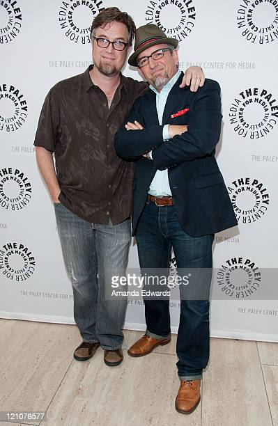 Cocreators Dan Povenmire and Jeff Swampy Marsh arrive at the PaleyFest Family Celebrates Television Series From Disney Channel's Phineas and Ferb at...