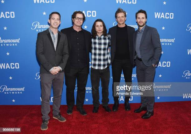 Cocreators Drew Dowdle and John Erick Dowdle and actors Rory Culkin Paul Sparks and Taylor Kitsch arrive at the Academy of Television Arts and...