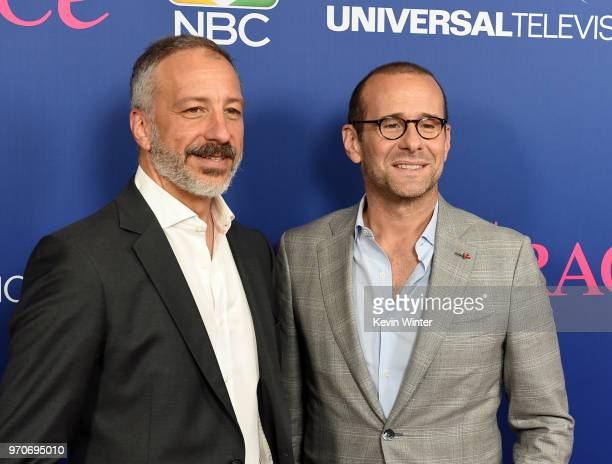 Cocreators/executive producers David Kohan and Max Mutchnick arrive at NBC's 'Will Grace' FYC Event at the Harmony Gold Theatre on June 9 2018 in Los...