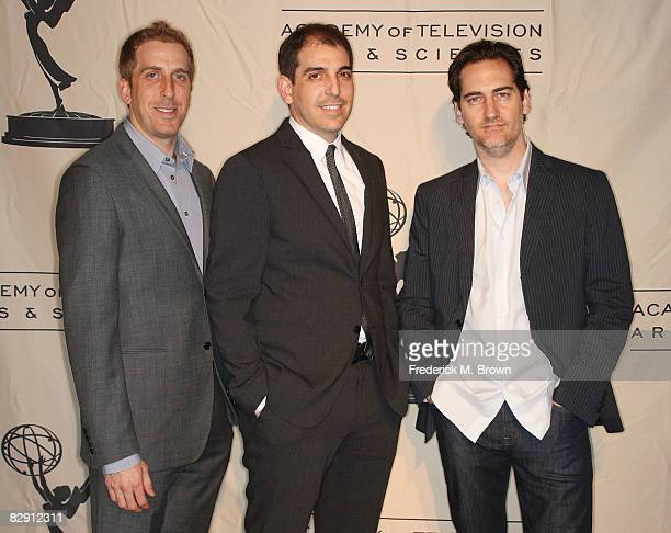 Cocreators/producers Todd P Kessler Glenn Kessler and Daniel Zelman attend the Academy of Television Arts Sciences and the Writers Peer Group Emmy...