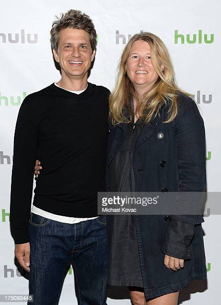 CoCreator/Writer/Executive Producer/Actor John Lehr and CoCreator/Writer/Director/Executive Producer Nancy Hower attend the Hulu 2013 Summer TCA Tour...