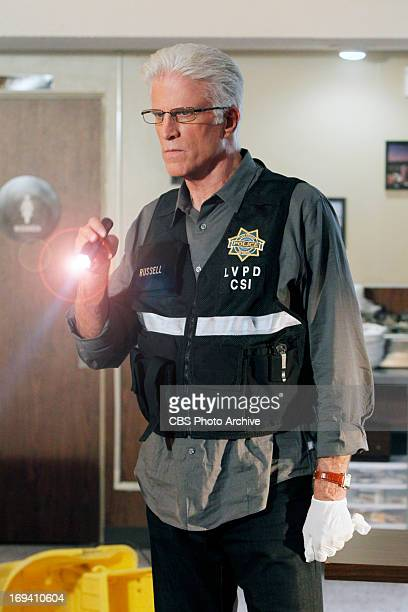 """Code Blue Plate Special"""" -- D.B. Russell shines a light at the crime scene as he imagines what happened on CSI: CRIME SCENE INVESTIGATION, Wednesday,..."""