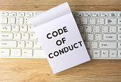 Code of Conduct Word on Note Pad