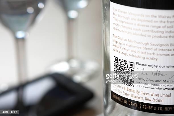 QR code on a wine bottle