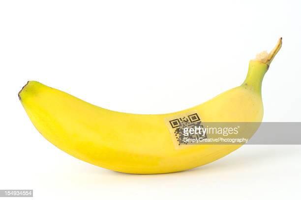 QR-Code auf Banane