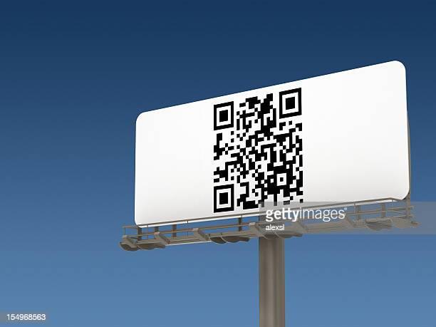 QR-Code auf Plakatwand