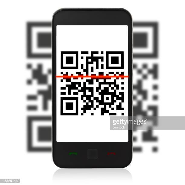 QR-Code auf mobil-Telefon
