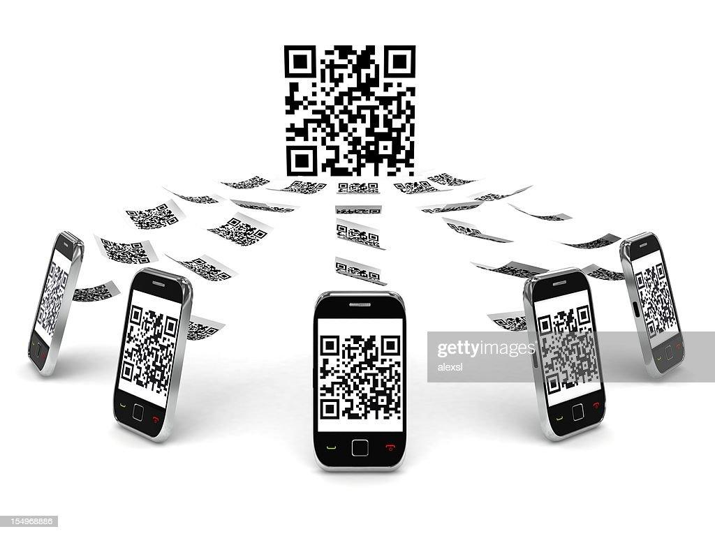 QR Code sur téléphone Mobile : Photo