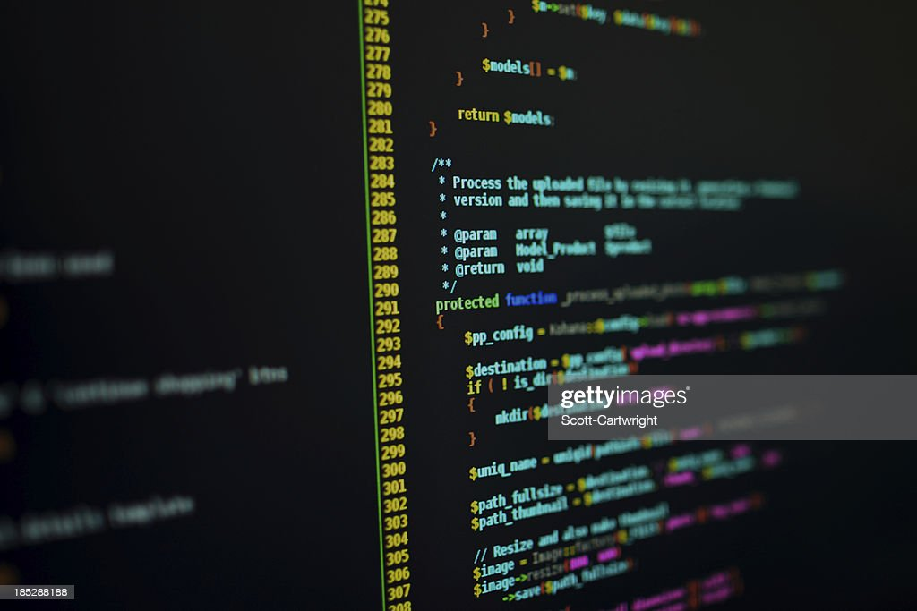 PHP-Code : Stock-Foto
