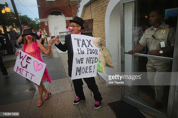 Code Pink protesters stand in front of Ybor City's Cuban Club which is reported to be hosting a party attended by US Sen Marco Rubio former Florida...