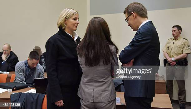 Codefendant Beate Zschaepe and her lawyers Wolfgang Heer and Anja Sturm and and Codefendant Ralf Wohlleben wait for the start of 173th day of the NSU...